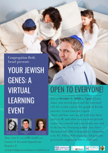 Your Jewish Genes: A Virtual Learning Event
