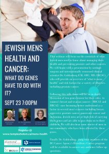 Jewish Men's Health and Cancer: What do genes have to do with it?